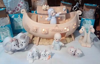 "Precious Moments Two By Two ""the Noah's Ark Story""  Pieces Porcelain Mint Cond."