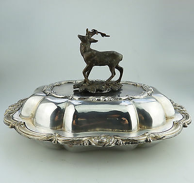 2. Antique Silver Plate EXTREMELY RARE Transition period Venison Dish C.1840