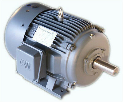 On Sale!!! CEM Cast Iron High Efficiency AC Motor 1 HP 1800RPM 143T 3Phase TEFC