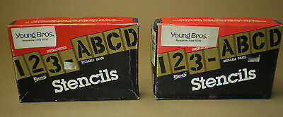 """Reese's Brass Adjustable Stencils 3""""  Lock Edge Numbers and Letters"""