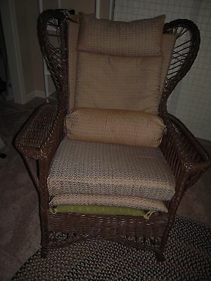 Vintage Wicker Rocking Chair-revived