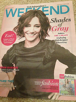 Orla Brady Photo Cover Interview Irish Weekend Magazine April 2016