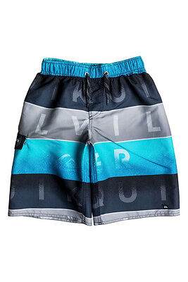 897d89c921 QUIKSILVER BIG BOYS M Board Swim Trunks Shorts Word Colorblock Blue ...