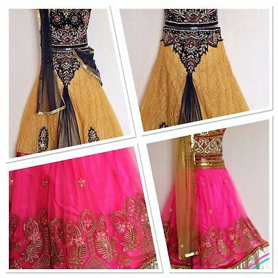 "Indian Handwork Ghagra Lacha Chanya Choli lehanga Size 26"" Girls age 7 - 9 yrs"