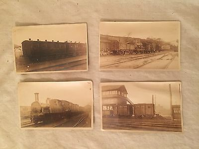 Four Picture Postcards Cork Bandon and South Coast Railway Ireland - ca. 1911