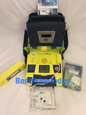 CARDIAC SCIENCE POWERHEART G3 PRO AED + CASE AND PADS 9300P-502NB Perfect condi