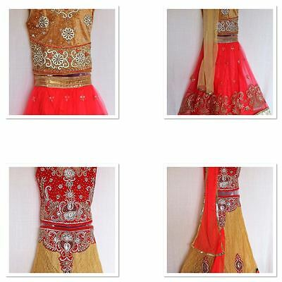 Indian Handwork Ghagra Lacha Chanya Choli lehanga Girls age 9 - 14 yrs