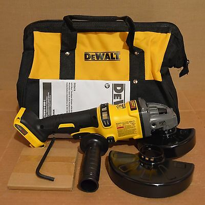 "New DEWALT DCG414 60V 4-1/2"" to 6"" (115-150mm) Angle Grinder with Kit Bag"