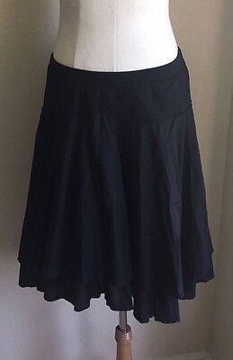 NWOT OLD NAVY Maternity Black Tiered Low Waist Cotton Skirt L Large 12 14 NEW