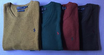 NWT Polo Ralph Lauren Sweater/Jumper/Pullover, Athentic 100% Wool WINTER SALE