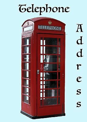 Address book British Phone Booth