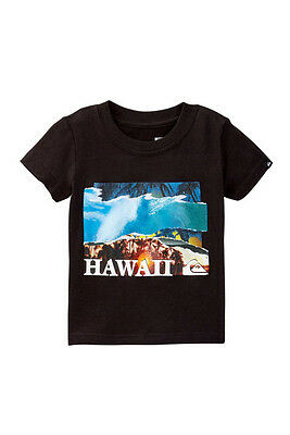 NWT Quiksilver Infant Toddler 24M Short Sleeve T-Shirt Black Hawaii Layover Tee