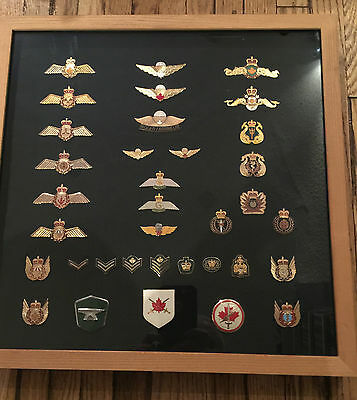 Huge Lot Of 35 Canadian Army Navy Airborne & Air Force Rank Badges & Insignia