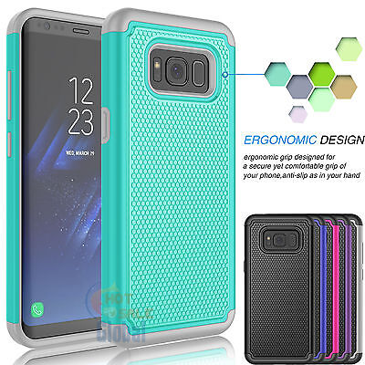 Armor Shockproof Rugged Rubber Hard Case Cover for Samsung Galaxy S8 / S8 Plus +