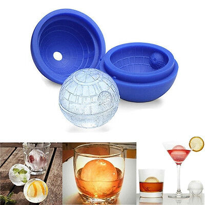 1pc 3D Silicone Death Star Ice Cube Round DIY Mould Pudding Jelly Mold Ice Trays