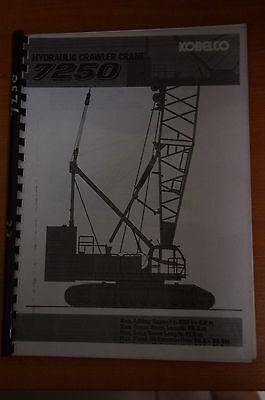Kobelco Hydraulic Crawler Crane 7250 Manual