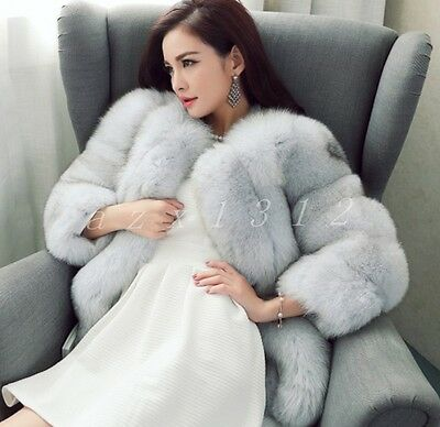 Womens Faux Fur 3Colors Thicken Warm Long Sleeve Coats Ladies Coats фрак женский