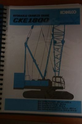 Kobelco CKE1800 Information Manual