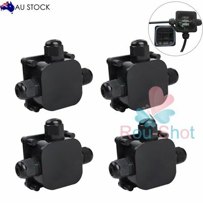 4 PCS IP68 3 WAY Terminal Waterproof Junction Box Plastic Electric Case【AU】