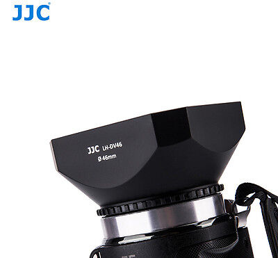 JJC 46mm DV Camcorder Square Lens Hood with Cap and Strap LH-DV46B Screw-in