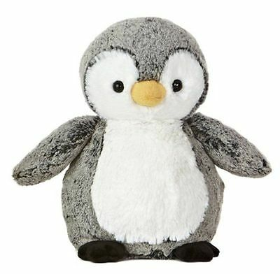 Silky Soft Fluffy Two Tone Perky Penguin Plush High Quality Kids Stuffed Toy