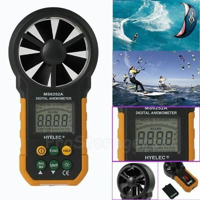 HYELEC MS6252A LCD digital anemometer wind speed meter backlight Tester Measure