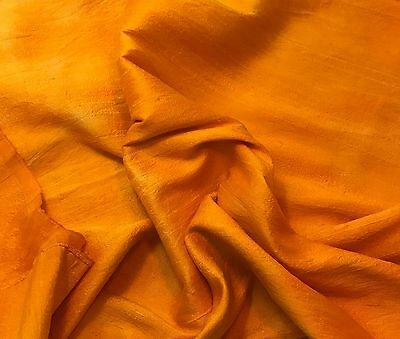 "Hand Dyed Silk DUPIONI Fabric PERSIMMON ORANGE fat 1//4 18/""x27/"" remnant"