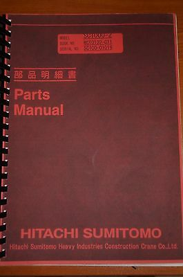 Hitachi Sumitomo SC1000-2 Parts Manual