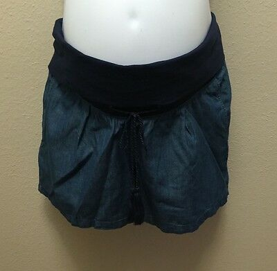 Old Navy XS  L  Shorts Maternity Blue Chambray Nwt