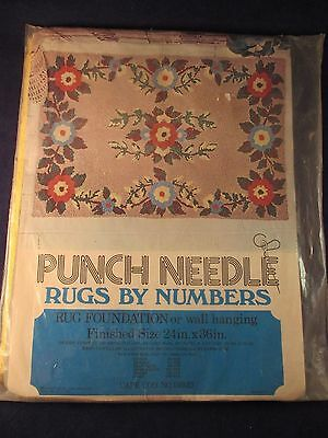 Punch Needle Rugs by Numbers Cape Cod 1500D Foundation Wall Hanging Vintage NIP