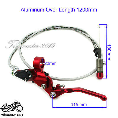 1200mm Line Hydraulic Clutch Lever Master Cylinder Pump For ATV Quad Monkey Bike