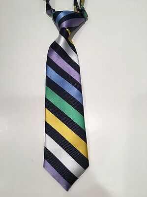 The Children's Place Navy Striped Adjustable Neck Tie - Spring Easter 6-18M