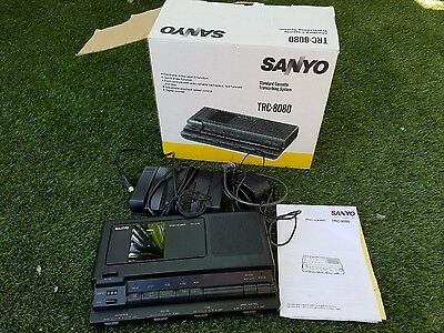 Sanyo TRC-8080 Standard Cassette Transcriber with Foot Control/Pedal