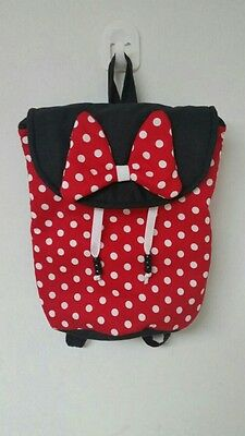 Special Handmade Kids Baby Toddler Backpack Bag Pre School Minnie Polka Dots Red