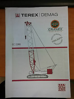 Terex Demag CC2200 Crane Manual/Catalog