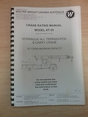 Walter Wright Cranes Rating Maunal/Catalog Model AT-20