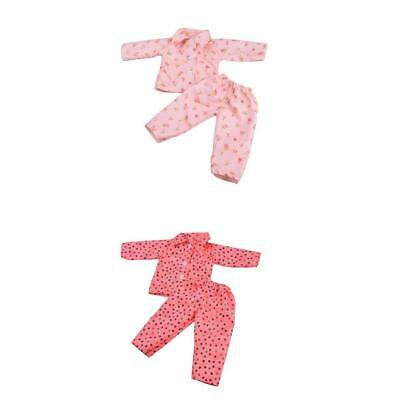2 Sets Pajamas Nightgown Clothes for 18 inch Our Generation American Girl Doll