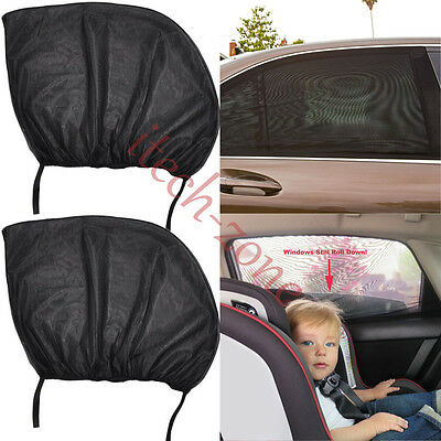 2X 100*53.5/113*51Cm Car Window Sun Shade Blind Protector Protection Children Uk