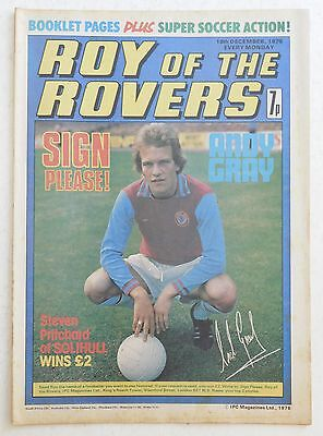 ROY OF THE ROVERS Comic - 18th December 1976