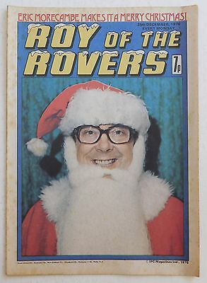 ROY OF THE ROVERS Comic - 25th December 1976 - Christmas / Eric Morecambe