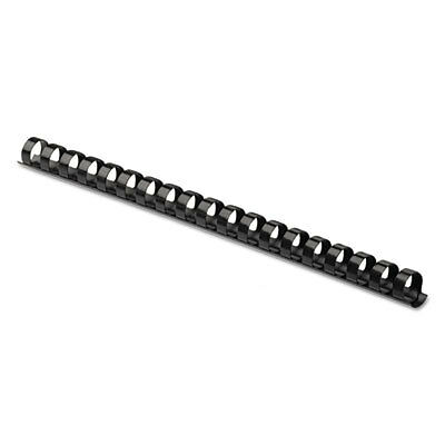 "Plastic Comb Bindings, 5/8"" Diameter, 120 Sheet Capacity, Black, 25 Combs/pack"
