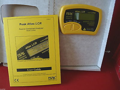 PEAK ATLAS LCR40 PASSIVE COMPONENT ANALYSER  Latest firmware R3.72  NEW