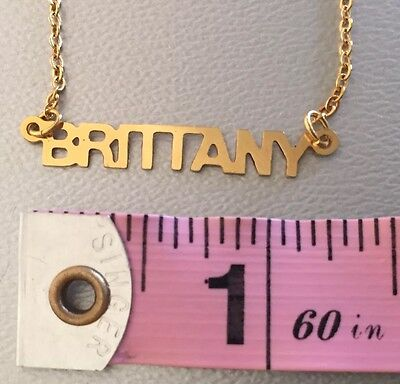 Brittany Necklace Personalized Name Jewelry