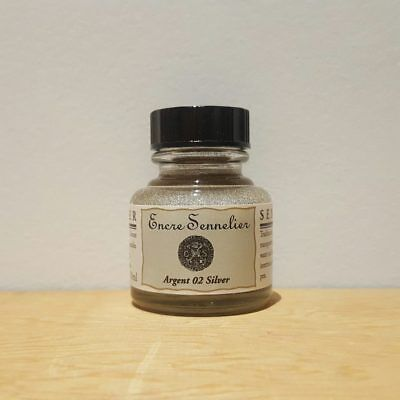 Sennelier 30ml Silver 17 Encre Drawing Ink
