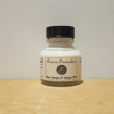 Sennelier 30ml Opaque White 15 Encre Drawing Ink