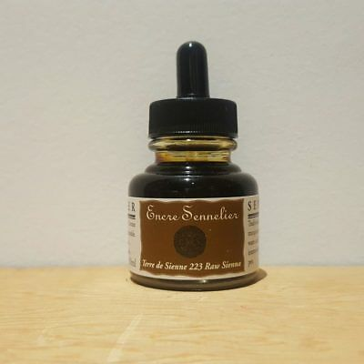 Sennelier 30ml Raw Sienna 223 Encre Drawing Ink