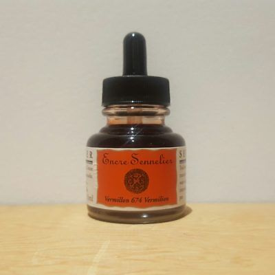 Sennelier 30ml Vermillon 674 Encre Drawing Ink