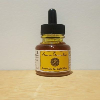 Sennelier 30ml Light Yellow 521 Encre Drawing Ink