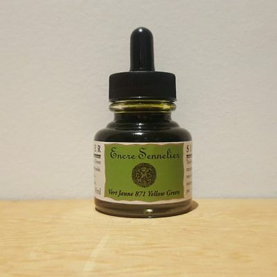 Sennelier 30ml Yellowish Green 871 Encre Drawing Ink