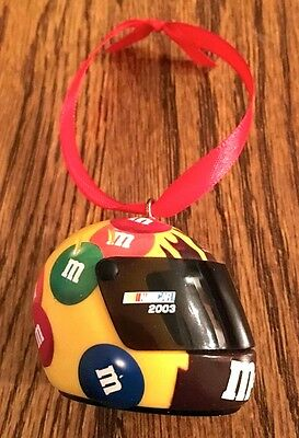 Vintage 2003 m&m's Helmet Christmas Ornament with Movable Face Shield New